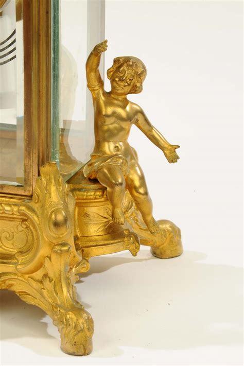 orologi da tavolo francesi orologio da tavolo in bronzo dorato e cristallo francia