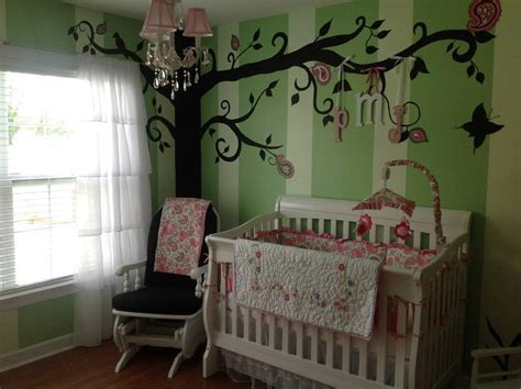 Paisley S Pink And Green Whimsical Nursery Project Nursery Whimsical Nursery Decor
