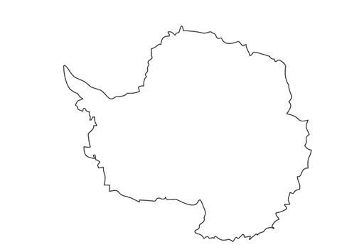 antarctica continent outline map gallery diagram writing