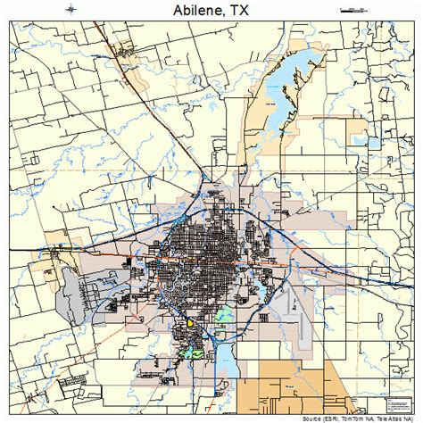 abilene texas map abilene texas map 4801000