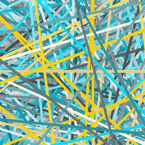 yellow and turquoise garden painting by lourry legarde luminous attachment yellow and turquoise abstract