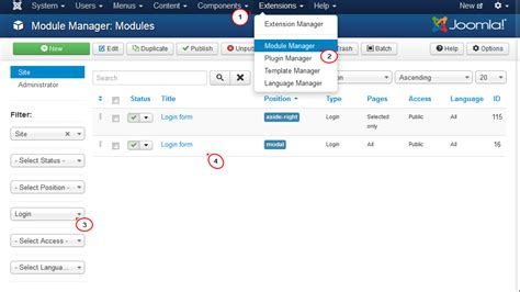 template joomla default joomla 3 x how to set change login redirect template