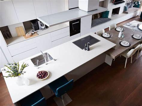 cocina con isla 5 soluciones de islas de cocina con mesa para comer