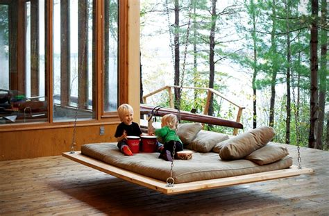 swinging bed 12 diy swing bed ideas to enjoy floating in mid air homecrux
