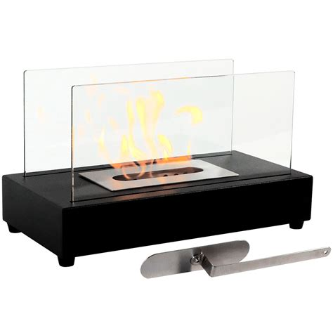 Serenity Home And Health Decor sunnydaze el fuego ventless tabletop fireplace bio ethanol