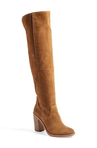 suede otk boots dolce vita ohanna the knee boot in brown saddle