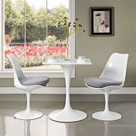tulip table square top pedestal table home  office furniture