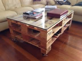 une table basse en palette de style industriel