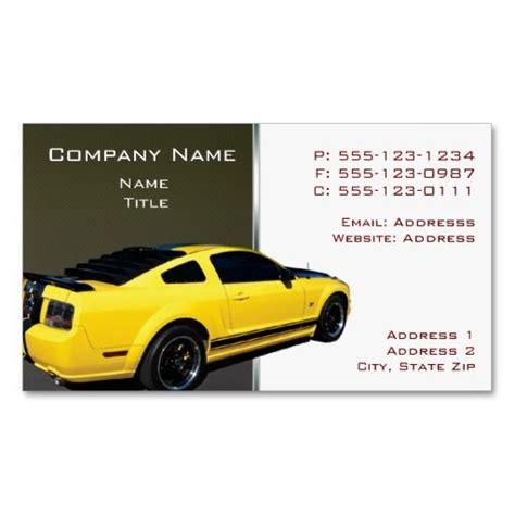 mustang repair shops mustang backside business cards mustang business cards