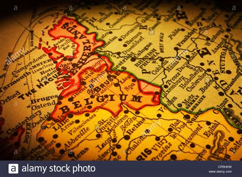 belgium in europe map europe map stock photos europe map stock images alamy
