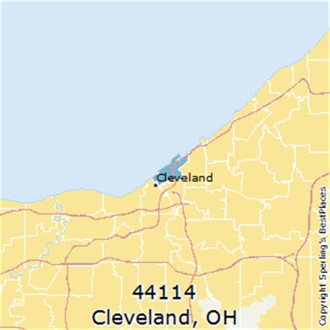 zip code map cleveland best places to live in cleveland zip 44114 ohio