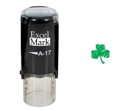 St Patricks Day Rubber St Shamrock St Green Ink