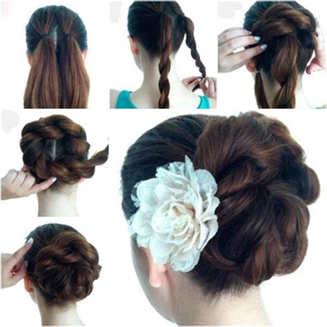 easy to make bun hairstyles wonderful diy twist double rope bun hairstyle