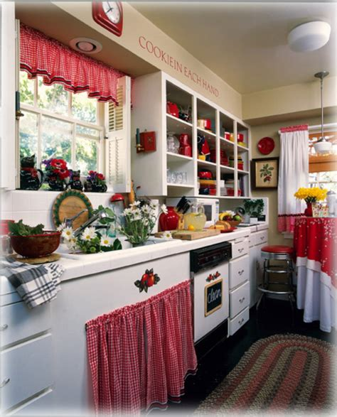 kitchen decorating ideas with red accents red and white country kitchen home design architecture