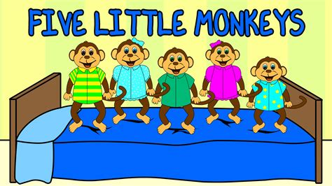 monkeys jumping on the bed youtube 5 little monkeys jumping on the bed nursery rhyme kids
