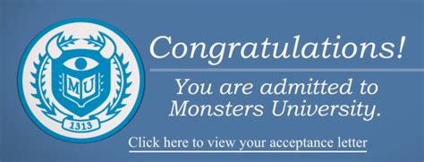 Acceptance Letter To Monsters Monsters Quot Acceptance Letter Quot Spot Pixar Post