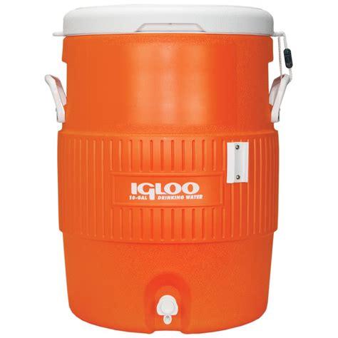 Water Dispenser Igloo igloo coolers 10 gallon seat top water jug with cup dispenser orange