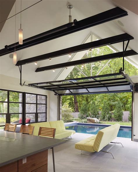 Glass patio garage doors living room eclectic with painted ceiling upholstered dining side chairs