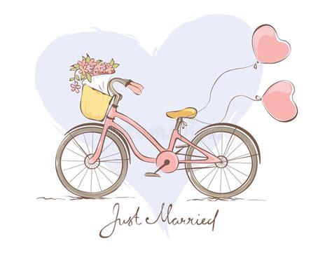 clipart bicicletta bicicletta per la sposa illustrazione vettoriale