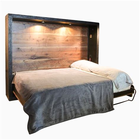 custom murphy bed custom made reclaimed wood murphy bed by puddle town