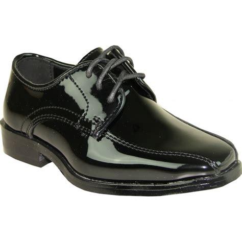 tux 5 kid patent boys tuxedo lace up dress shoes for sale