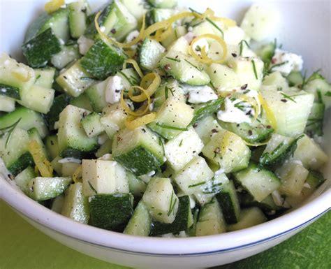 printable zucchini recipes fast and easy zucchini salad recipe popsugar food