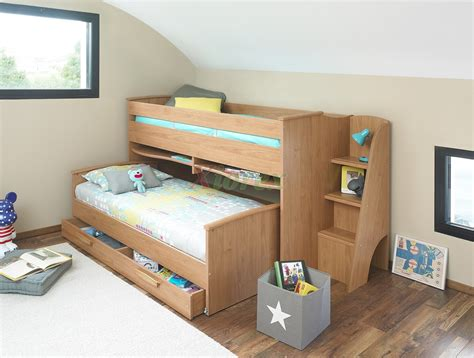 Caign Bed by Cabin Bed Gami Montana Cabin Bed W Slide Out Bed In White