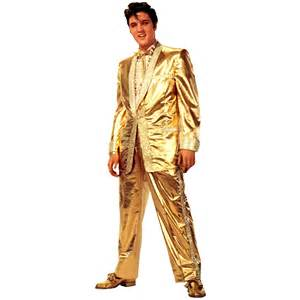 Advanced graphics elvis presley in gold suit life size cardboard stand