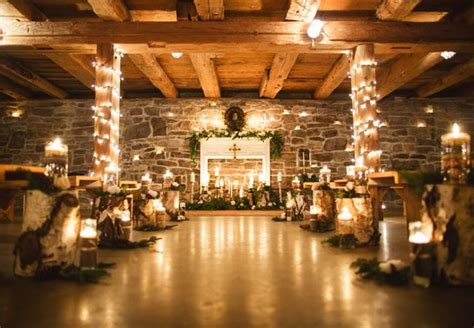 Winter Cabin Wedding by A Cozy And Glitzy Winter Wedding Fair Photography
