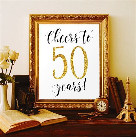 Cheers to 50 years 50th birthday party decorations for men