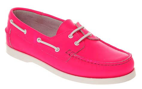 mens pink sneakers office yachting boat shoe neon pink lthr in pink for