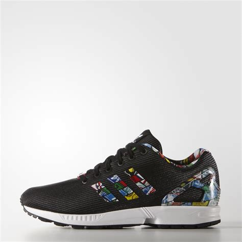 adidas flux october breathable running shoes mens black casual official