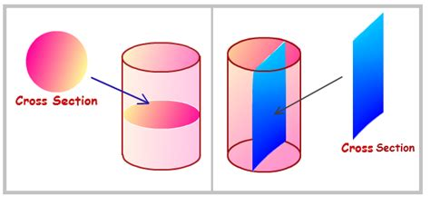 what is the cross section of a cylinder mathspace slicing up prisms