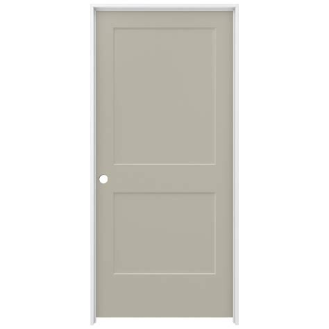 home depot jeld wen interior doors jeld wen 36 in x 80 in smooth 2 panel desert sand solid