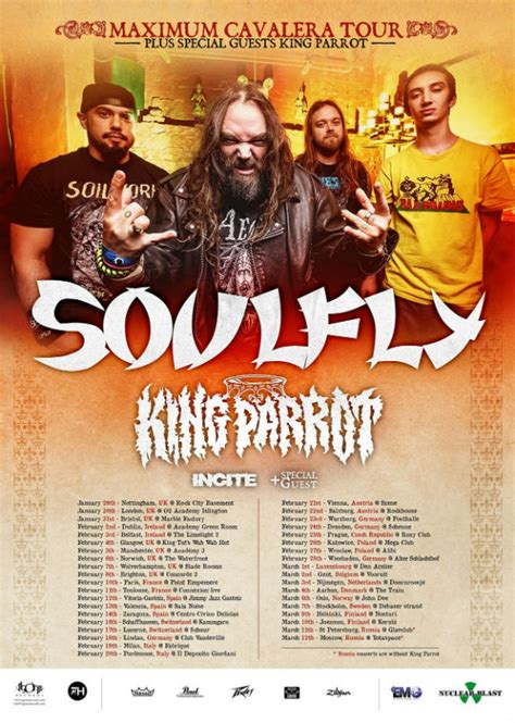 soulfly dresden king parrot headed to europe with soulfly in metal news