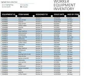 office equipment inventory template free templates