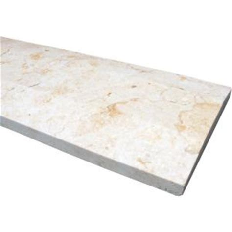 ms international beige hollywood style 5 in x 30 in engineered marble threshold floor and wall