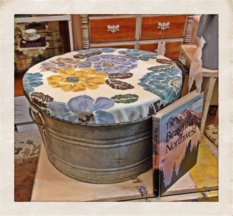 diy outdoor ottoman outdoor ottoman seat made from vintage galvanized tub diy