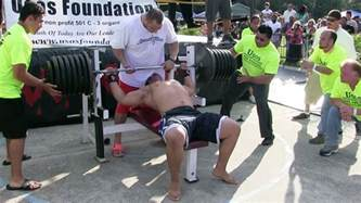 world record bench press by age attempts 725 pound world record bench press in