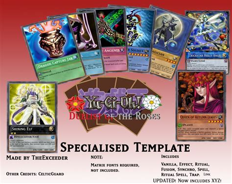 yugioh 4kids card template yu gi oh duelist of the roses template by lugia61617 on