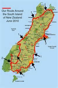 new zealand map south island road map deboomfotografie