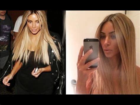 kim kimble ash blonde kim kardashian 1 2014 reveals her new blonde hair is
