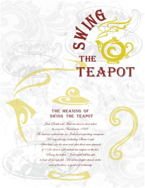 swing the teapot menu swing the teapot menu cover