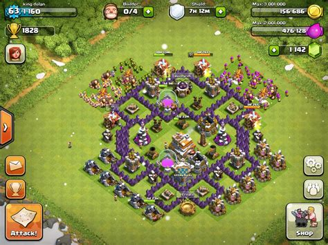 defense layout in coc town hall 7 defense layout www pixshark com images