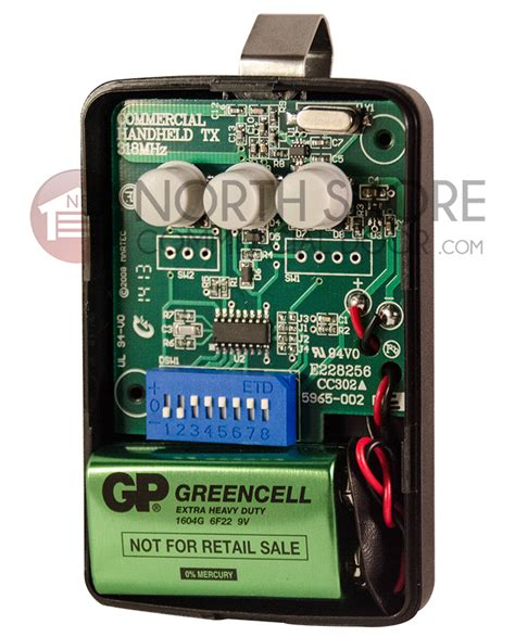 pulsar  garage door gate opener remote  mhz