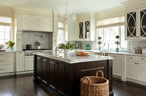 espresso kitchen island transitional kitchen jean allsopp photography