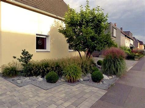 pflegeleichter vorgarten pflanzen pflegeleichte vorgartengestaltung mit gr 228 sern bux und felsen