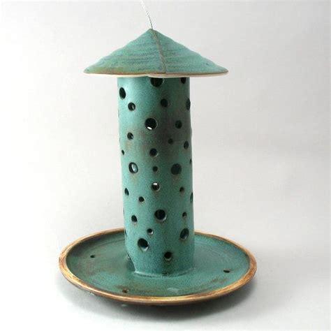 Clay Bird Feeder ceramic bird feeder