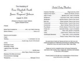 wedding bulletin templates traditional wedding program template wedding programs