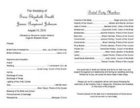 Wedding program templates http webdesign14 com